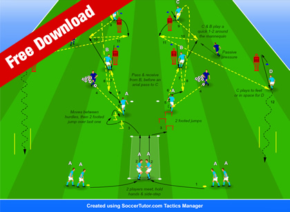 Pep Guardiola One-Touch Combination Play Warm-up