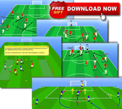 Soccer Backyard Drills : The emphasis is on allowing the