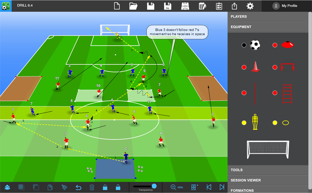 Tactics Manager Soccer Coaching Software Create Your Own Practcies Tactics And Sessions