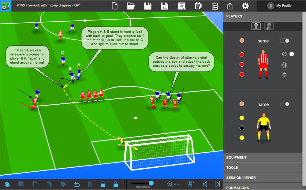 Tactics Manager Soccer Coaching Software Create Your Own Practcies